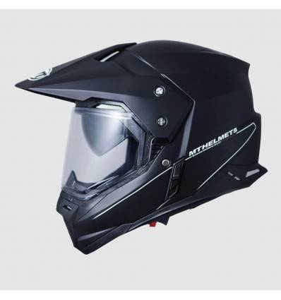 Casco cross MT Helmets Synchrony Duo Sport Negro Mate