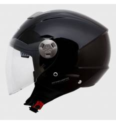 Casco jet MT Helmets City Eleven Solid Negro